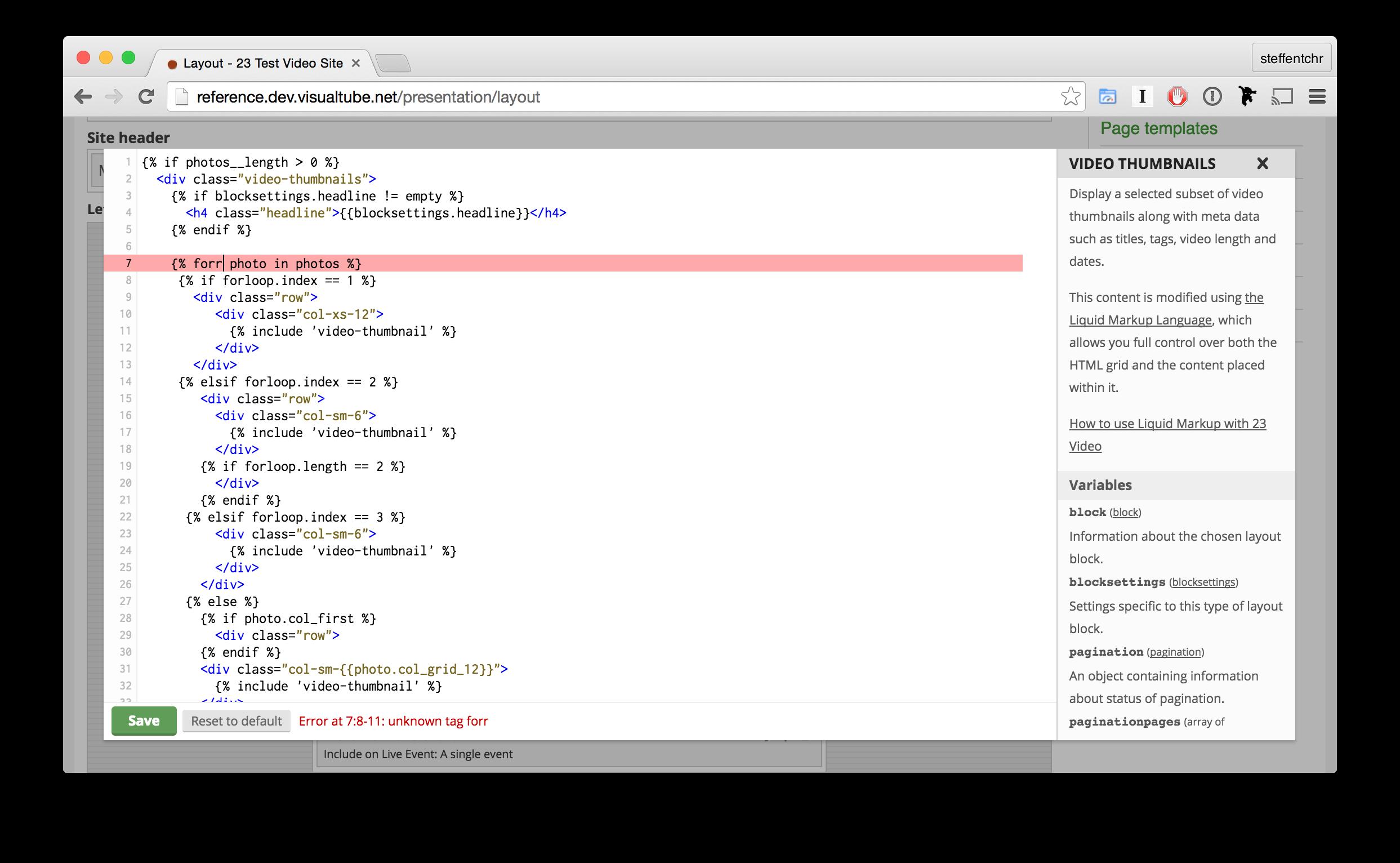 The code editor | TwentyThree™